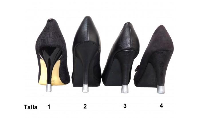 zapatos de tacón alto 4 Pares-4 Tallas- Plata