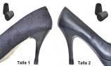 tacones 2 PARES - 2 TALLAS - NEGRO