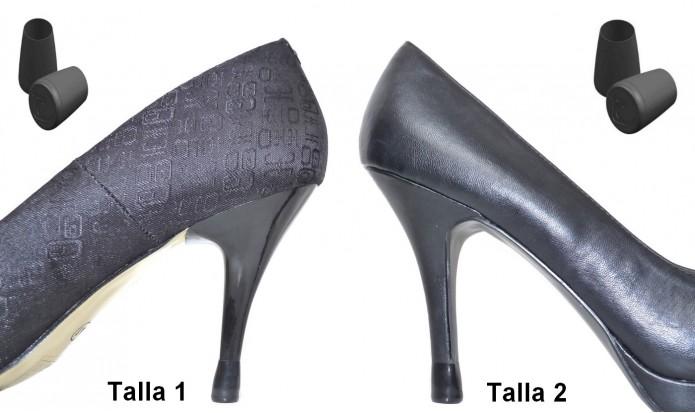 zapatos de tacón alto 2 PARES - 2 TALLAS - NEGRO