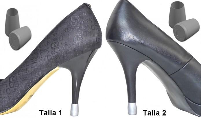 zapatos de tacón alto 2 PARES - 2 TALLES - PLATA