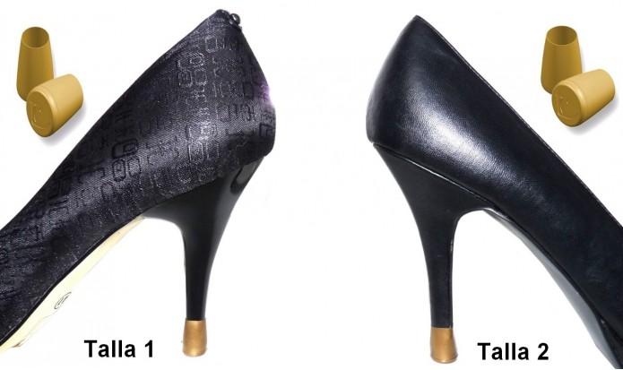 zapatos de tacón alto 2 PARES - 2 TALLAS - ORO