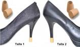 tacones 2 PARES - 2 TALLAS - CAMEL