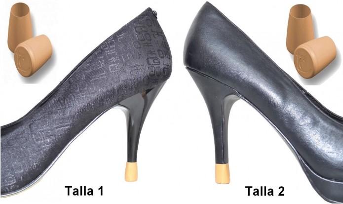 zapatos de tacón alto 2 PARES - 2 TALLAS - CAMEL