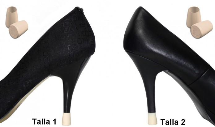 zapatos de tacón alto 2 PARES - 2 TALLAS - MARFIL