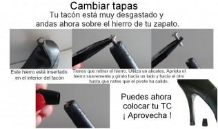 reparacion tacon - cambiar tapa tacon - zapatos peep toe - tacones - tacon alto